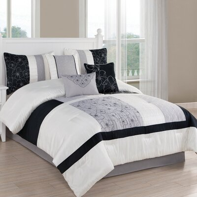 Brighton 7 Piece Comforter Set Size: King
