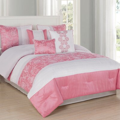 Blossom 7 Piece Comforter Set Size: King