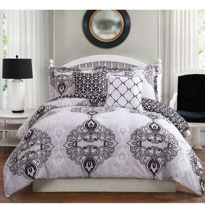 Celine 5 Piece Reversible Comforter Set Size: King