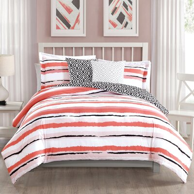 Colman 5 Piece Reversible Comforter Set Size: King