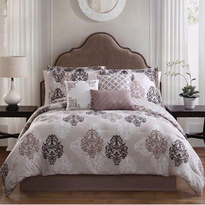 Java 7-Piece Reversible Comforter Set Size: King