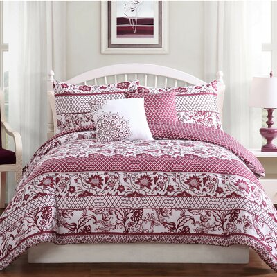 Paz 5-Piece Reversible Comforter Set Size: Full/Queen