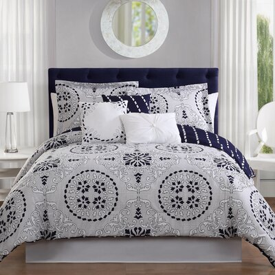 Bailey 7-Piece Reversible Comforter Set Size: King