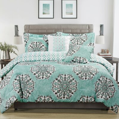 Danialla 5-Piece Reversible Comforter Set Size: King