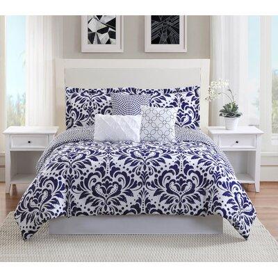 Anson 7-Piece Reversible Comforter Set Size: Queen