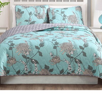 Bill 3 Piece Reversible Quilt Set Size: King