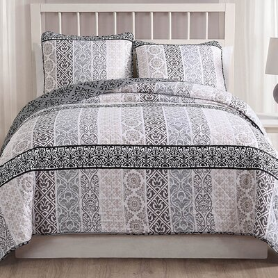 Blaisdell 3 Piece Reversible Quilt Set Size: Queen