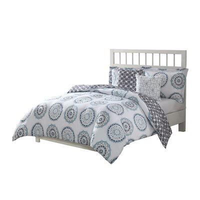 Alejandre 5 Piece Reversible Bed-In-a-Bag Set Size: King