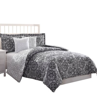 Bowman 5 Piece Reversible Comforter Set Size: Queen