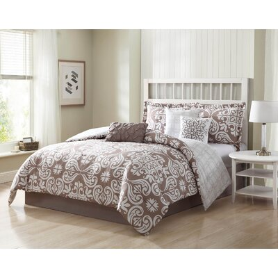 Fitzgerald 7 Piece Reversible Comforter Set Size: King