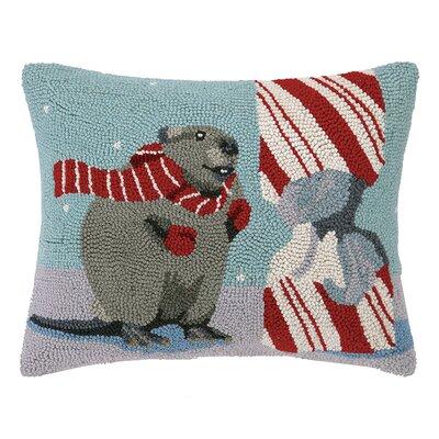 The Beaver Wool Hook Lumbar Pillow
