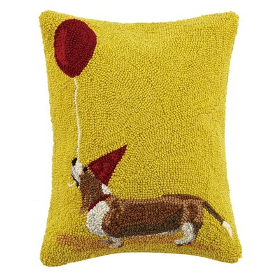 Dachshund Balloon Wool Lumbar Pillow