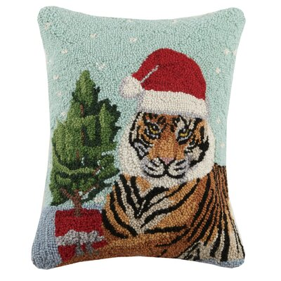 Modern Holiday Animal Wool Lumbar Pillow