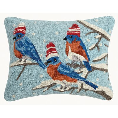 Holiday Animal Wool Lumbar Pillow