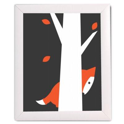 FancyHuLi Autumn Fox by Ivy Framed Graphic Art in Black FHCM003