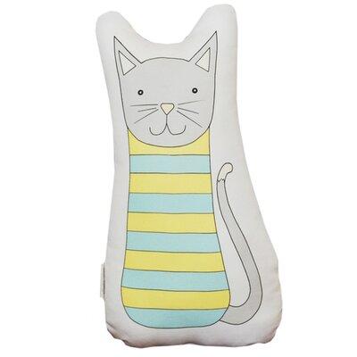 Clayton Handmade Cat 100% Linen/Cotton Blend Throw Pillow Color: Teal