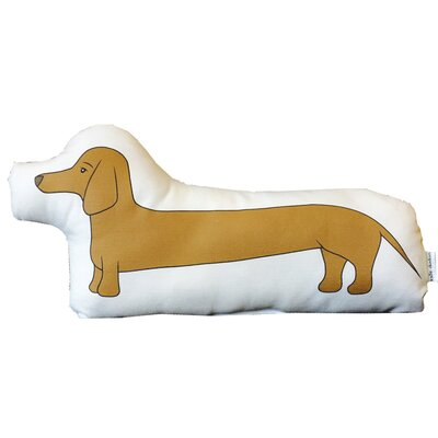 Clayton Handmade Dachshund 100% Linen/Cotton Blend Throw Pillow Color: Brown