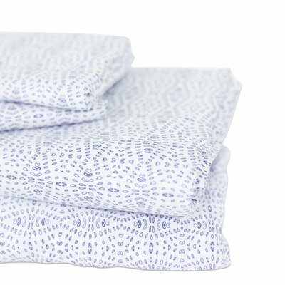 400 Thread Count Cotton Lillie Flat Sheet Size: Queen