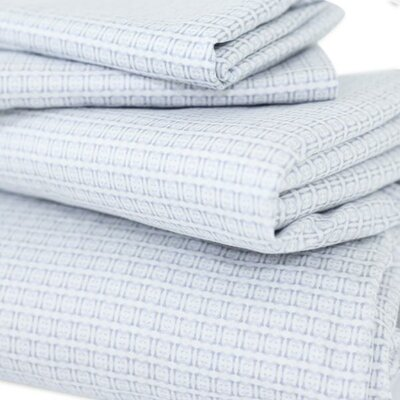 400 Thread Count Cotton Fez Flat Sheet Size: Queen