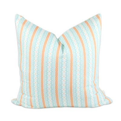 Aqua Marine Throw Pillow Size: 24 H x 24 W