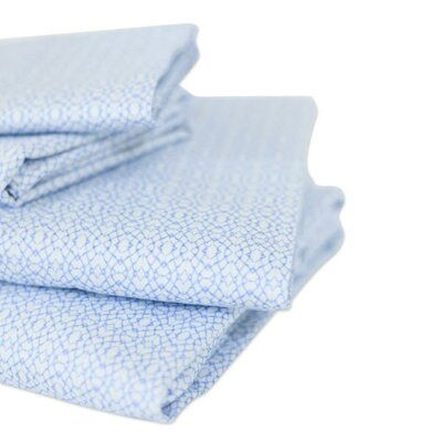400 Thread Count Cotton Jasmine Sheet Set Size: Queen
