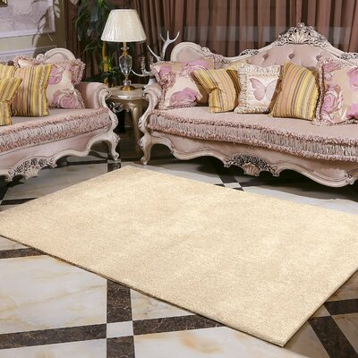Minimalism Beige Area Rug Rug Size: Rectangle 8 x 10
