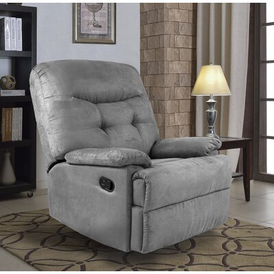 Big Jack Pro Earth Tone Microfiber Recliner Upholstery: Gray