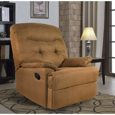 Big Jack Pro Earth Tone Microfiber Recliner Upholstery: Brown