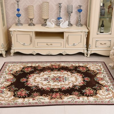 Chantelle Hand-Tufted Brown/Beige/Red/Green Area Rug Rug Size: Rectangle 46 x 66