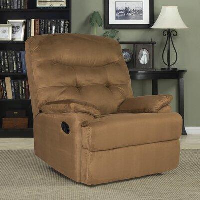 Big Jack Manual Wall Hugger Recliner Upholstery: Brown
