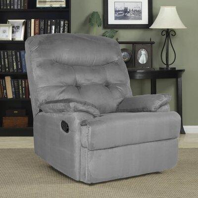 Big Jack Manual Wall Hugger Recliner Upholstery: Gray