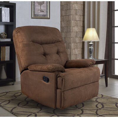 Big Jack Pro Earth Tone Microfiber Recliner Upholstery: Chocolate