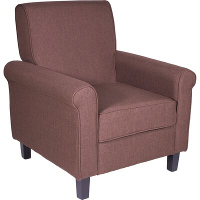 Margaux Accent Chair Color: Brown