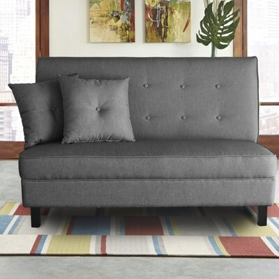 Margaux Loveseat Upholstery: Black