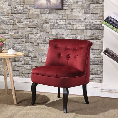 Jiya Accent Slipper Chair Upholstery: Royal Red