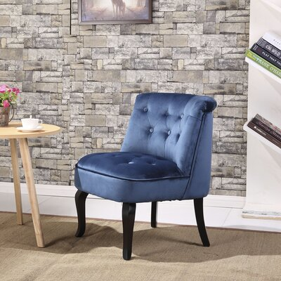Jiya Accent Slipper Chair Upholstery: Royal Blue