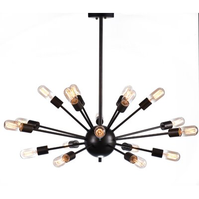 Industrial 18-Light Cluster Pendant