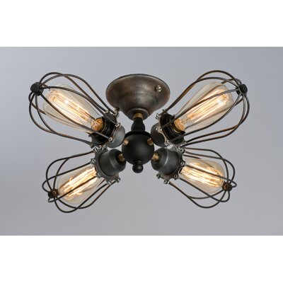 Tonisha 4-Light Semi Flush Mount