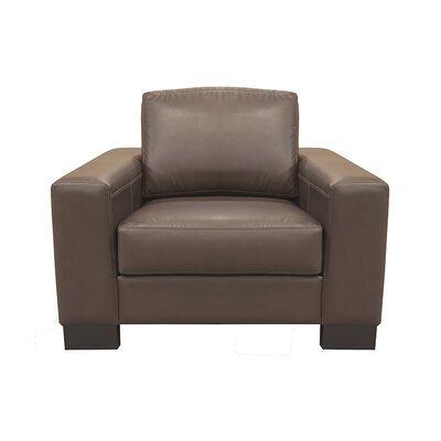 Club Chair Upholstery: AMB 1155 Dark Brown, Finish: Espresso