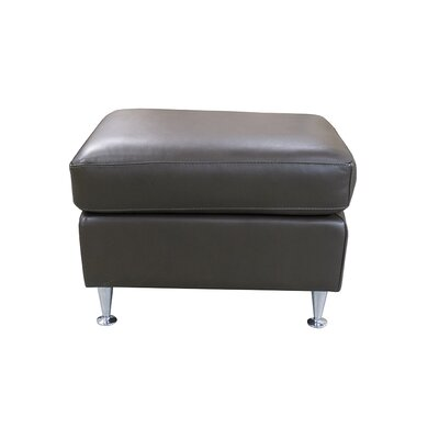 Erika Leather Ottoman Upholstery: COR 1812 Distressed Brown