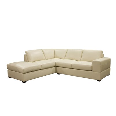 Coja Brady 2 Piece Open End Left Arm Facing Sectional - Base Finish: Walnut, Color: EXP 2124 Dark Brown at Sears.com
