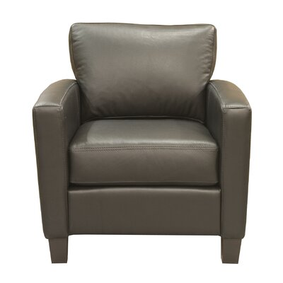 Adeen Club Chair Color: Espresso, Color: AMB 1181 Black
