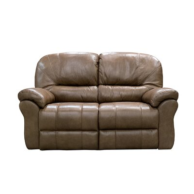 Frankfort Power Reclining Loveseat Upholstery: Dark Brown
