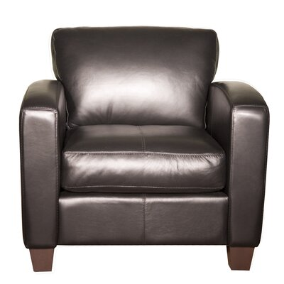 Mercer Club Chair Color: AMB 1181 Black