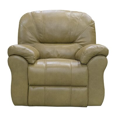 Frankfort Leather Power Wall Hugger Recliner Upholstery: Medium Brown