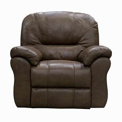 Frankfort Leather Power Wall Hugger Recliner Upholstery: Dark Brown