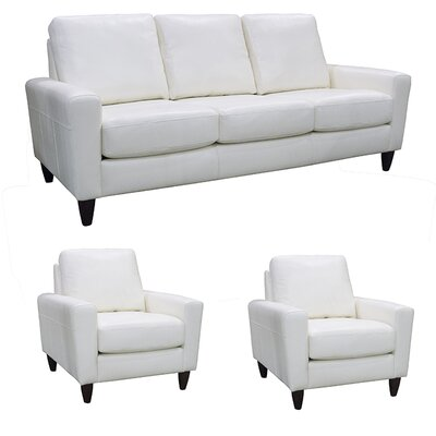 Atlanta Leather 3 Piece Living Room Set