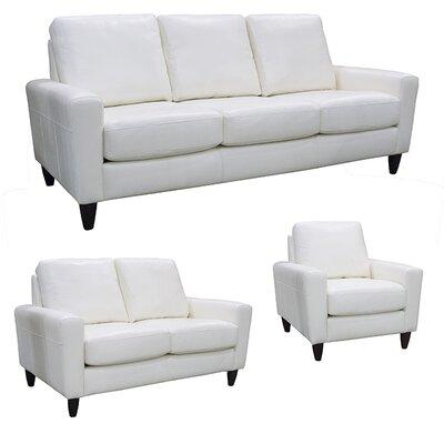 Atlanta Leather 3 Piece Living Room Set