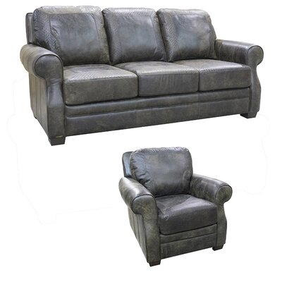 Boise Leather 2 Piece Living Room Set