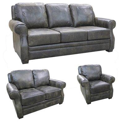Boise Leather 3 Piece Living Room Set